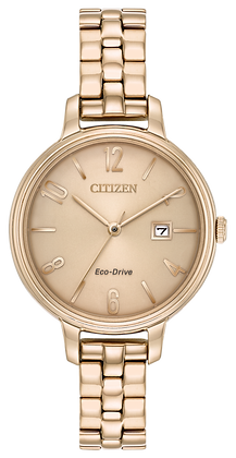 Citizen Watch Bracelet Rose Gold Tone Stainless Steel Part # 59-R00455