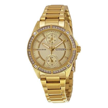 Citizen Watch Bracelet Gold Tone Stainless Steel Part # 59-S05995