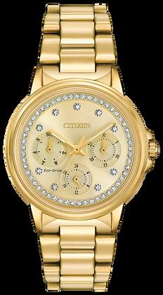 Citizen Watch Bracelet Gold Tone Stainless Steel Part # 59-R00413