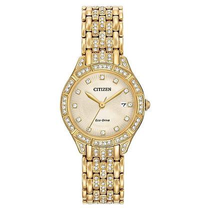 Citizen Watch Bracelet Gold Tone Stainless Steel Part # 59-R00375