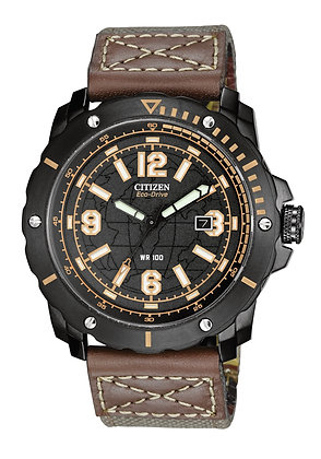 Citizen Watch Strap Brown Leather Part # 59-S52849