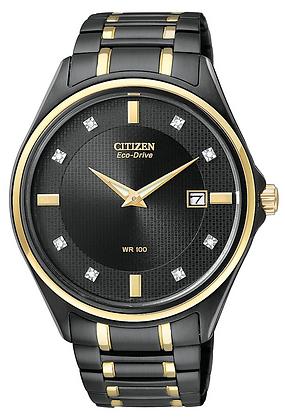 Citizen Watch Bracelet TT Black Ion Plated Stainless Steel Part # 59-S04381