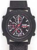 Citizen Watch Strap Black Leather 20 MM Part # 59-E0025