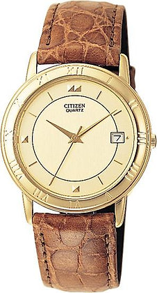 Citizen Watch Strap Light Brown Leather 18 MM Part # 59-K5315