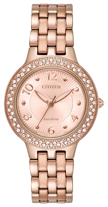 Citizen Watch Bracelet Pink Gold Tone Stainless Steel Part # 59-R00494
