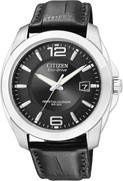 Citizen Watch Band Black Leather 21MM Part # 59-S52040