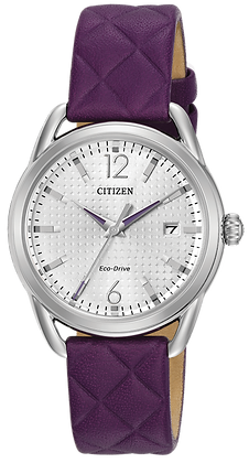 Citizen Watch Strap Purple Leather Part # 59-S53611