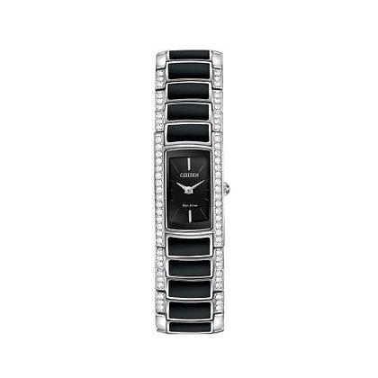 Citizen Watch Bracelet Two Tone W/ Black Resin Part # 59-S05760