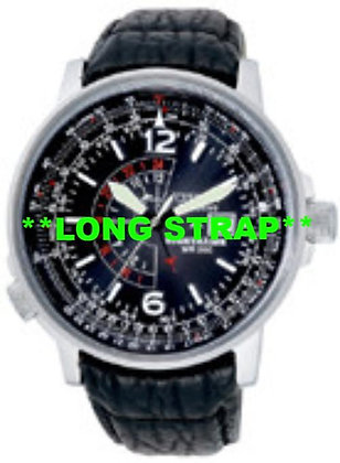 Citizen Watch Strap Black Leather 22 MM Part # 59-S50339LS