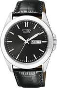 Citizen Watch Band Black Leather 22MM Part # 59-S52067