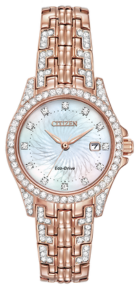 Citizen Watch Bracelet Rose Gold Tone Stainless Steel Part # 59-S06248