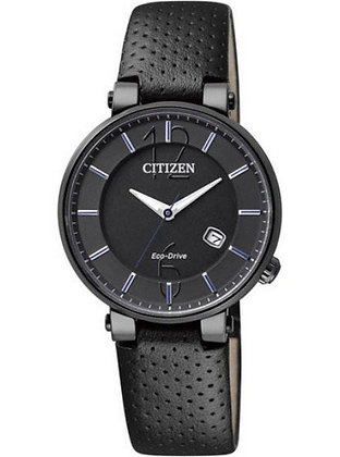 Citizen Watch Strap Black Leather Part # 59-S52337