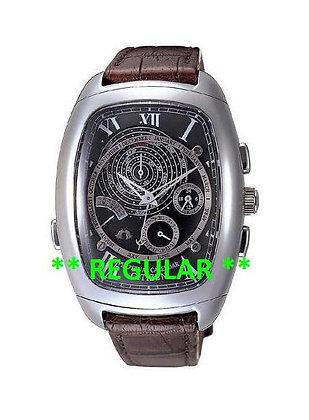 Citizen Watch Strap Campanella Crocodile Dark Brown Leather Part # 59-T50539