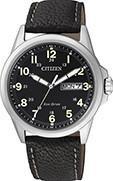 Citizen Watch Strap Black Leather Part # 59-S53284