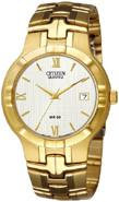 Citizen Watch Bracelet Gold Tone Stainless Steel Part # 59-S05117
