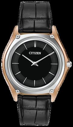 Citizen Watch Crocodile Strap Black Leather Part # 59-T50972