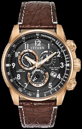 Citizen Watch Strap Brown Crocodile Leather Part # 59-S53808