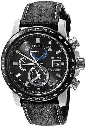 Citizen Watch Strap Black Leather Part # 59-S53404