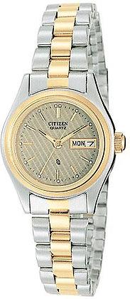 Citizen Watch Bracelet Two Tone Stainless Steel Part # 59-K0211