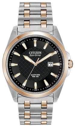 Citizen Watch Bracelet Two Tone Rose Gold Stainless Steel Part # 59-S04436
