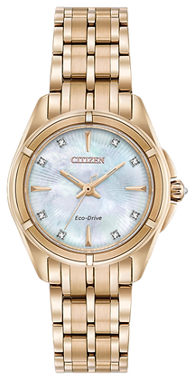 Citizen Watch Bracelet Rose Gold Stainless Steel Part # 59-S06989