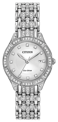 Citizen Watch Band Silver Tone Stainless Steel Part # 59-R00374