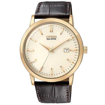 Citizen Watch Band Dark Brown Leather 22MM Part # 59-S52477