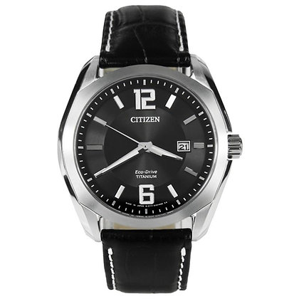 Citizen Watch Strap Black Leather Part # 59-S52118
