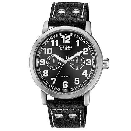 Citizen Watch Strap Black Leather 22MM Part # 59-S52762