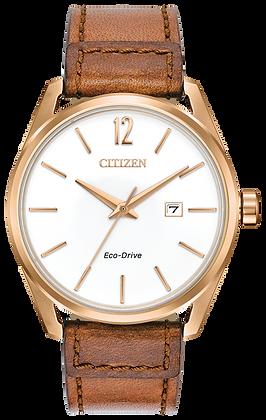 Citizen Watch Strap Brown Leather Part # 59-S53896