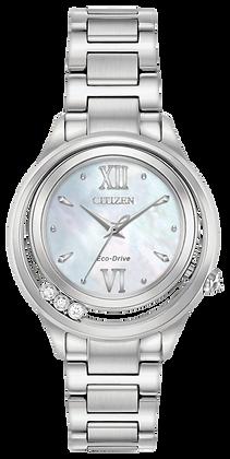 Citizen Watch Bracelet Silver Tone Stainless Steel Part # 59-S06916