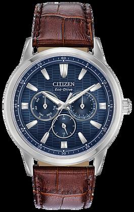 Citizen Watch Strap Brown Leather Part # 59-R50309