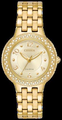 Citizen Watch Bracelet Gold Tone Stainless Steel Part # 59-R00493