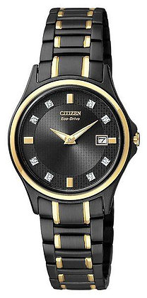 Citizen Watch Bracelet TT Black Ion Plated Stainless Steel Part # 59-S04383