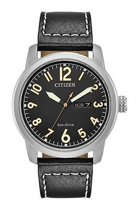 Citizen Watch Strap Black Leather Part # 59-R50238