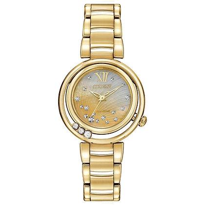Citizen Watch Bracelet Gold Tone Stainless Steel Part # 59-S05846