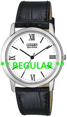 Citizen Watch Strap Black Leather 19MM Part # 59-S50172