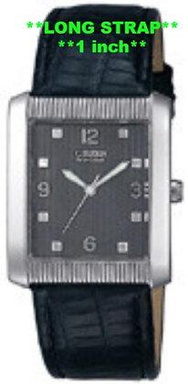 Citizen Watch Band Black Leather 20MM Black Part # 59-E0781LS.