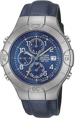 Citizen Watch Strap Blue Leather 16 MM Part # 59-K5598