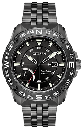 Citizen Watch Bracelet Black Ion Stainless Steel Part # 59-S06979
