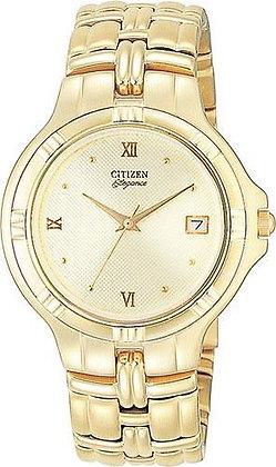 Citizen Watch Bracelet Gold Tone Stainless Steel Part # 59-H0186