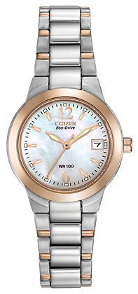 Citizen Watch Bracelet Rose Gold Two Tone Stainless Steel Part # 59-S04379