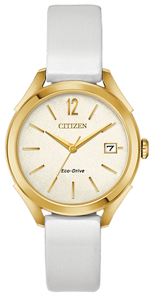 Citizen Watch Strap White Leather Part # 59-S53894