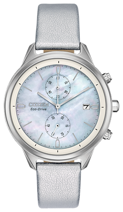 Citizen Watch Strap White Leather Part # 59-S53926