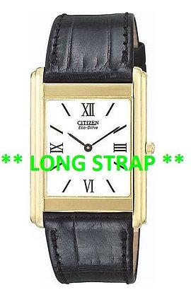 Citizen Watch Strap Black Leather 21 MM LONG Part # 59-T50049LS