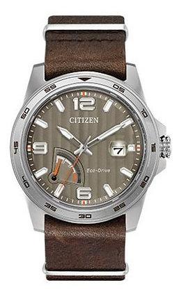 Citizen Watch Strap Dark Brown Leather Part # 59-S53635