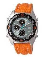 Citizen Watch Strap Orange With White Stitching Part # 77330