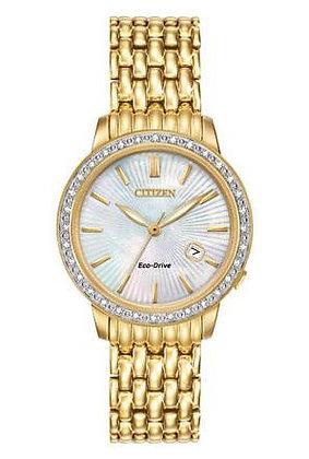 Citizen Watch Bracelet Gold Tone Stainless Steel Part # 59-S06170