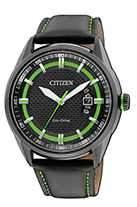 Citizen Watch Strap Black Leather Part # 59-S52625