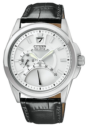 Citizen Watch Band Black Leather 22MM Part # 59-S52318